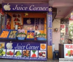 Apple Juice and Fast Food Corner